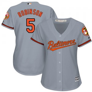 Women's Majestic Baltimore Orioles Brooks Robinson Authentic Grey Road Cool Base Jersey