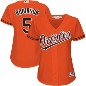 Women's Majestic Baltimore Orioles Brooks Robinson Authentic Orange Alternate Cool Base Jersey
