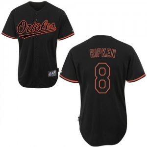 Men's Majestic Baltimore Orioles Cal Ripken Authentic Black Fashion Jersey
