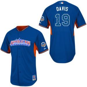 Men's Majestic Baltimore Orioles Chris Davis Authentic Blue American League 2013 All-Star BP Jersey