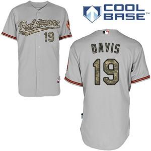 Men's Majestic Baltimore Orioles Chris Davis Authentic Grey USMC Cool Base Jersey
