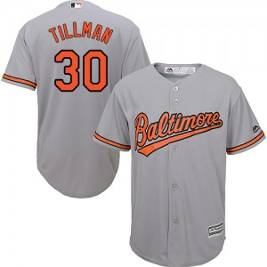 Men's Majestic Baltimore Orioles Chris Tillman Authentic Grey Road Cool Base Jersey