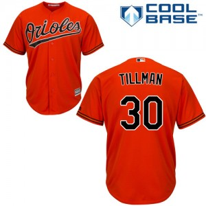 Men's Majestic Baltimore Orioles Chris Tillman Authentic Orange Alternate Cool Base Jersey
