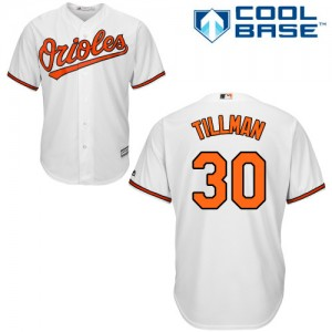 Men's Majestic Baltimore Orioles Chris Tillman Authentic White Home Cool Base Jersey