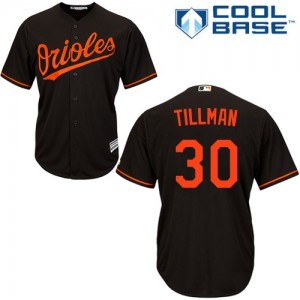 Men's Majestic Baltimore Orioles Chris Tillman Replica Black Alternate Cool Base Jersey
