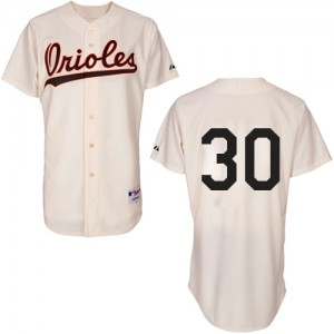 Men's Majestic Baltimore Orioles Chris Tillman Replica Cream 1954 Turn Back The Clock Jersey