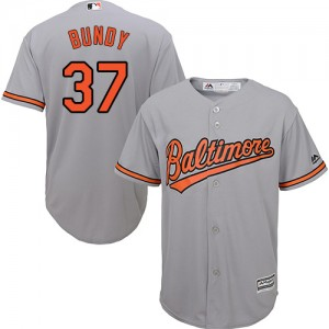 Men's Majestic Baltimore Orioles Dylan Bundy Authentic Grey Road Cool Base Jersey