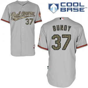 Men's Majestic Baltimore Orioles Dylan Bundy Authentic Grey USMC Cool Base Jersey
