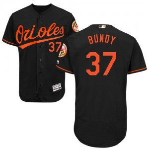 Men's Majestic Baltimore Orioles Dylan Bundy Authentic Black Flexbase Collection Jersey