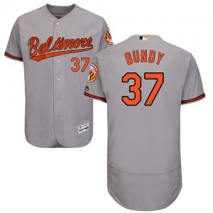 Men's Majestic Baltimore Orioles Dylan Bundy Authentic Grey Flexbase Collection Jersey