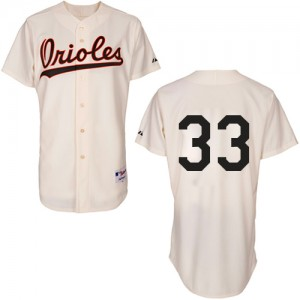 Men's Majestic Baltimore Orioles Eddie Murray Authentic Cream 1954 Turn Back The Clock Jersey