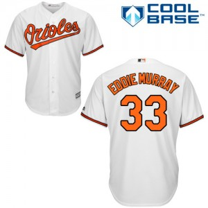Men's Majestic Baltimore Orioles Eddie Murray Authentic White Home Cool Base Jersey