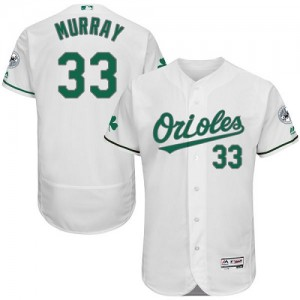 Men's Majestic Baltimore Orioles Eddie Murray Authentic White Celtic Flexbase Collection Jersey