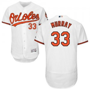 Men's Majestic Baltimore Orioles Eddie Murray Authentic White Flexbase Collection Jersey