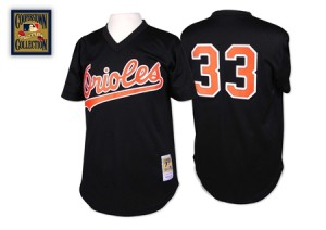 Men's Mitchell and Ness Baltimore Orioles Eddie Murray Replica Black Throwback Jersey