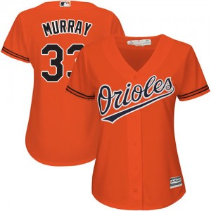 Women's Majestic Baltimore Orioles Eddie Murray Authentic Orange Alternate Cool Base Jersey