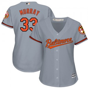 Women's Majestic Baltimore Orioles Eddie Murray Replica Grey Road Cool Base Jersey
