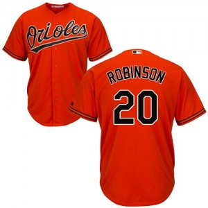 Men's Majestic Baltimore Orioles Frank Robinson Authentic Orange Alternate Cool Base Jersey