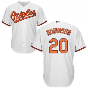 Men's Majestic Baltimore Orioles Frank Robinson Authentic White Home Cool Base Jersey