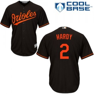 Men's Majestic Baltimore Orioles J.J. Hardy Authentic Black Alternate Cool Base Jersey