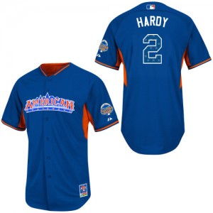 Men's Majestic Baltimore Orioles J.J. Hardy Authentic Blue American League 2013 All-Star BP Jersey