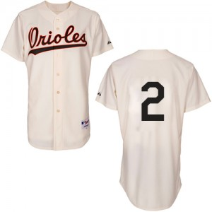 Men's Majestic Baltimore Orioles J.J. Hardy Authentic Cream 1954 Turn Back The Clock Jersey