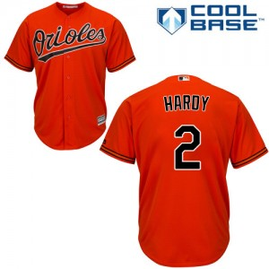 Men's Majestic Baltimore Orioles J.J. Hardy Authentic Orange Alternate Cool Base Jersey