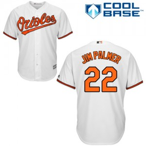 Men's Majestic Baltimore Orioles Jim Palmer Authentic White Home Cool Base Jersey