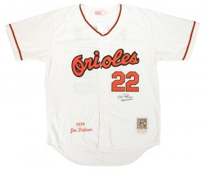 Men's Mitchell and Ness Baltimore Orioles Jim Palmer Replica Cream 1970 Throwback Jersey