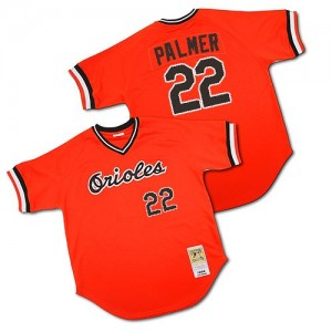 Men's Mitchell and Ness Baltimore Orioles Jim Palmer Replica Orange 1982 Throwback Jersey