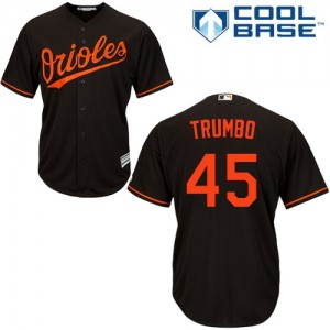 Men's Majestic Baltimore Orioles Mark Trumbo Authentic Black Alternate Cool Base Jersey