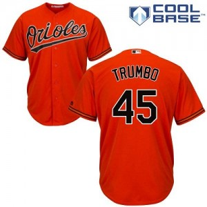 Men's Majestic Baltimore Orioles Mark Trumbo Authentic Orange Alternate Cool Base Jersey
