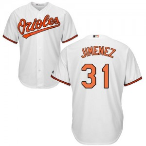 Men's Majestic Baltimore Orioles Ubaldo Jimenez Authentic White Home Cool Base Jersey