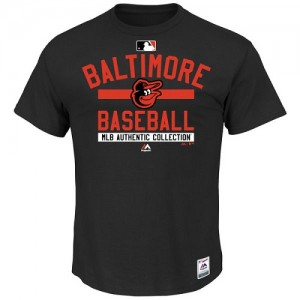 Men's Majestic Baltimore Orioles Authentic Black Big & Tall Collection Team Property T-Shirt -