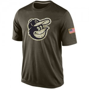 Men's Nike Baltimore Orioles Olive Dri-Fit Salute To Service KO Performance T-Shirt