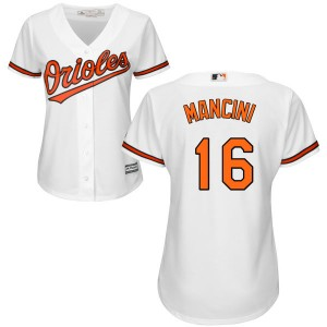 Women's Majestic Baltimore Orioles Trey Mancini Replica White Home Cool Base Jersey