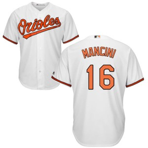 Men's Majestic Baltimore Orioles Trey Mancini Replica White Home Cool Base Jersey