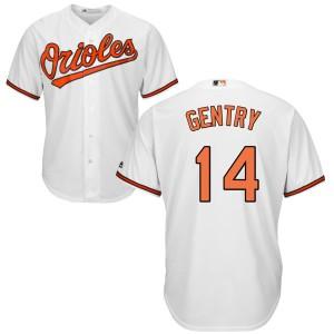 Men's Majestic Baltimore Orioles Craig Gentry Replica White Home Cool Base Jersey