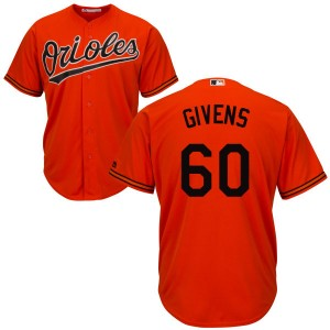 Men's Majestic Baltimore Orioles Mychal Givens Replica Orange Cool Base Jersey