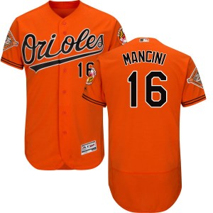 Men's Majestic Baltimore Orioles Trey Mancini Replica Orange Alternate 2017 Flex Base Jersey with Commemorative Patch
