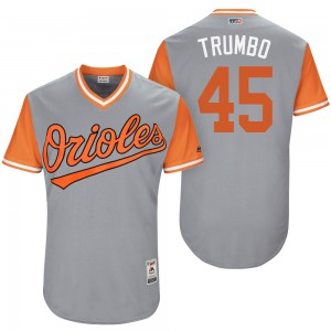 "Men's Baltimore Orioles Mark Trumbo Authentic Gray ""Trumbo"" 2017 Players Weekend Jersey"