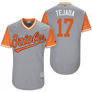 "Men's Baltimore Orioles Ruben Tejada Authentic Gray ""Tejada"" 2017 Players Weekend Jersey"