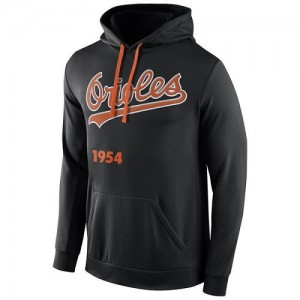 Men's Nike Baltimore Orioles Black Cooperstown Performance Pullover Hoodie -