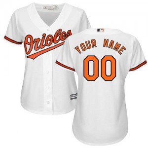 Women's Majestic Baltimore Orioles Custom Authentic White ized Home Cool Base Jersey