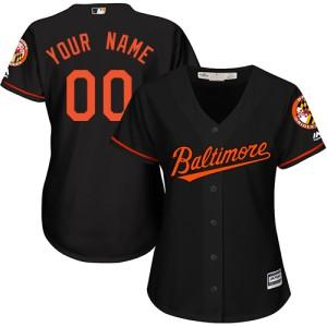 Women's Majestic Baltimore Orioles Custom Replica Black ized Alternate Cool Base Jersey