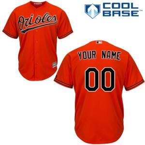 Youth Majestic Baltimore Orioles Custom Authentic Orange ized Alternate Cool Base Jersey