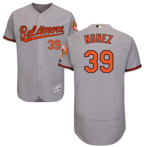 Men's Majestic Baltimore Orioles Renato Nunez Authentic Gray Flex Base Road Collection Jersey
